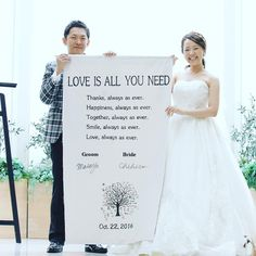 人前式で作りたい結婚証明書のユニークなアイデア15選* | marry[マリー] Love Is All, One Shoulder Wedding Dress, Wedding Planner, Groom, Thankful, Tapestry, Romantic, Bride, Wedding Dresses