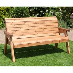 Traditional Outdoor Three Seater Bench - HB20 - Natural Collection Select
