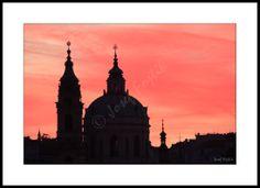 Framed fine art photography - Church of Saint Nicholas on Lesser Town, Prague, Czech Republic. Photo: Josef Fojtik - www.joseffojtik.com - https://www.facebook.com/Fineartphotoprints