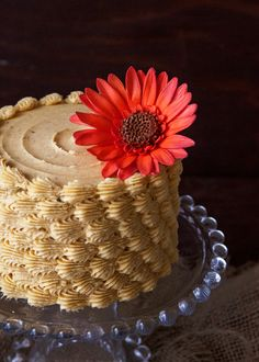 Pumpkin Chai Buttercream---this would be really pretty for an autumnal birthday cake!