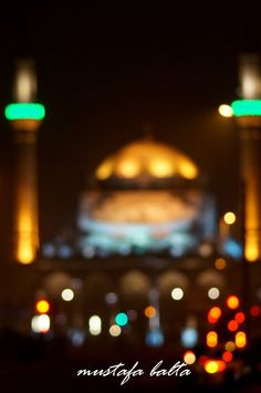 Mosque with Bokeh by Mustafa Balta