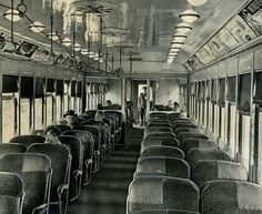 A nearly empty Pacific Electric Red Trolley car #1522 enroute from Los Angeles to Long Beach. Photo by R.L. Oliver, L.A. Times Archives Web:  http://www.framework.latimes.com