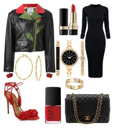 """""""Roses Are Red"""" by perceptionandco on Polyvore featuring Style & Co., Moschino, Aquazzura, Dolce&Gabbana, Chanel, WithChic, NARS Cosmetics, Bling Jewelry, Cartier and women's clothing"""