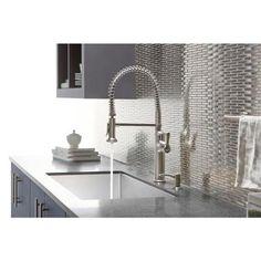 kohler sous prostyle pulldown sprayer kitchen faucet in vibrant stainless - Kohler Kitchen Faucets