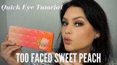 Too Faced Sweet Peach Palette Makeup Tutorial Quick Look | Melissa Chee