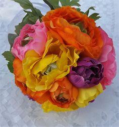 Mira este artículo en mi tienda de Etsy: https://www.etsy.com/listing/238395512/bridal-bouquet-in-multicolor-ranunculus