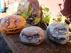Garden Faces Painted Rocks...these are the BEST Rock Painting Ideas!