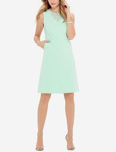 Scallop Inset Sheath Dress | Sheer Inset Sheath Dress | THE LIMITED