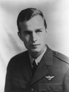 Future US President George H.W. Bush as a Navy Pilot During World War II, Ca. 1942