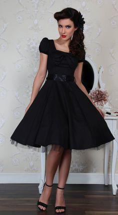 ddd1d80fd9 Black Bow Rockabilly Tea Dress – Pretty Kitty Fashion
