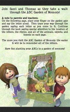 An introduction page to how to use the ABC Poem Planting ABC in a Garden of Memory Abc Garden, Notes To Parents, Alliteration, Garden Quotes, Planting, Kindergarten, Poems, Preschool, Internet