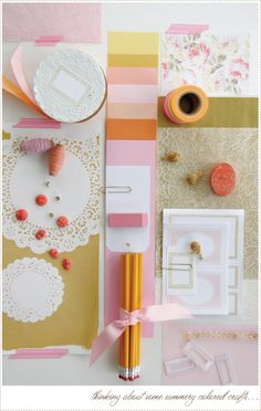 Color palette by @Leslie Lippi Lippi Shewring - peach, pink, gold and orange