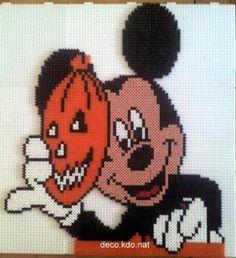 Halloween Mickey hama perler by deco.kdo.nat