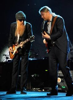 Billy Gibbons and Derek Trucks during Freddie King tribute jam