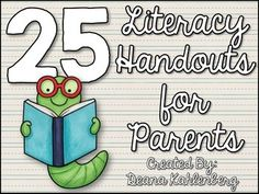Most Popular Teaching Resources: Literacy Handouts for Parents