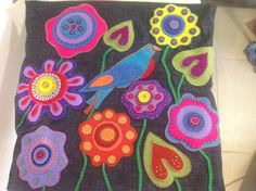 My latest cushion cover from a design by Wendy Williams and fabric from Material Obsession
