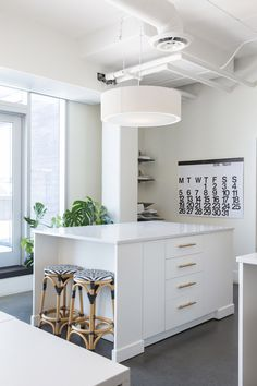 The Calgary Offices of Reena Sotropa Design Group | Rue Open Plan Kitchen Living Room, Floor Finishes, Interior Design Studio, Lounge Areas, Luxury Living, Decorating Your Home, Modern Design, House Design, Storage