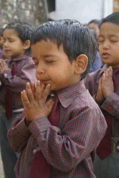 Praying child