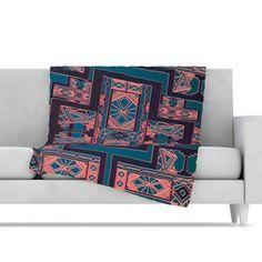 KESS InHouse Golden Art Deco Fleece Throw Blanket #kess #kessinhouse #nika #nikamartinez #allmodern #blanket #deco #art #artdeco #pink #blue #coral #design #home #decor #gatsby #middle #century #50´s #pattern #couch #lovekess #lovemyroom #lovenika #indie #designer #featured #pretty #christmas #gift