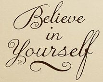 Believe in yourself Vinyl Decal Wall words Sticker Lettering , Inspirational decor, motivational classroom and office decorations