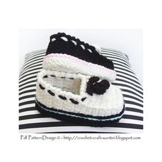 Crochet Loafers for Babies and Toddlers. Pattern.