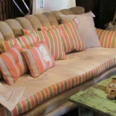 Bemis sofa at Pink Salvage Gallery by Coquille vintage