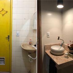 Depois de uma pequena reforma esse banheiro ficou um charme!!!