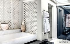 Middle eastern influence over me here.... with my appreciation for the lattice work in the bathroom
