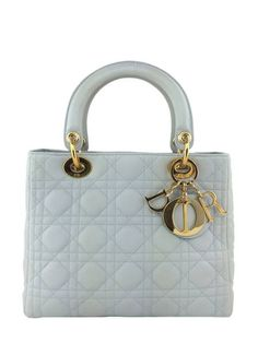 Christian Dior Cannage Quilted Lambskin Leather Medium Lady Dior Bag