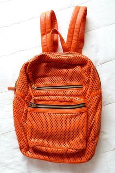 10a97b1e78bf ASH Danica Blood Orange Leather Perforated Backpack