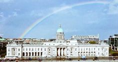 Best photo on the Internet today - A rainbow over Dublin. Proof that nature has a sense of humor.