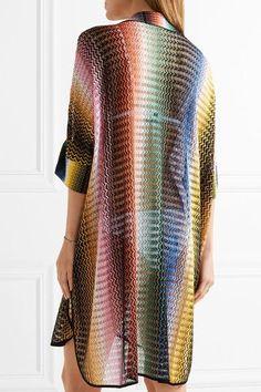 Missoni - Mare Crochet-knit Tunic - Storm blue
