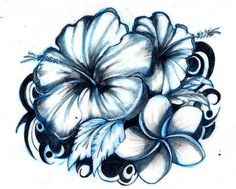 #hibiscus #tattoo - This is a nice design.