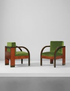 Gino Levi Montalcini and Giuseppe Pagano - Pair of armchairs, from the Palazzo Gualino, Turin, circa 1928 Furniture For Small Spaces, Colorful Furniture, Art Furniture, Modern Furniture, Vintage Furniture Design, Vintage Designs, Take A Seat, Turin, Sofa Chair