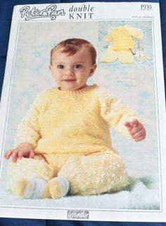 Baby Sweater & Trousers Wendy 715 knitting pattern DK yarn winter #Wendy