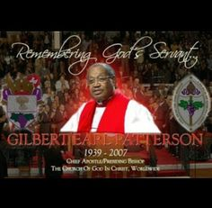 His Grace, the late, great G.E. Patterson, Presiding #Bishop and Chief #Apostle…
