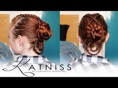 tutorial for the braided bun Katniss wore when revealing her wedding dress!