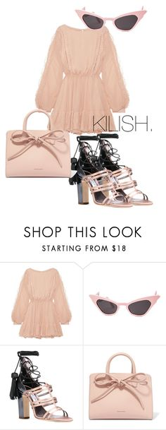"""Pretty with some edge"" by fashion-junki on Polyvore featuring LoveShackFancy, Jimmy Choo and Mansur Gavriel"