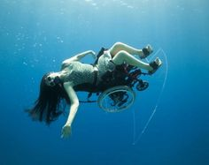 Artist Sue Austin Glides Through the Sea in a Self-Propelled Underwater Wheelchair!
