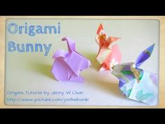 Easter Crafts - How to Fold Origami Rabbit / Bunny - Paper Easter Crafts - Kids & Classrooms - YouTube