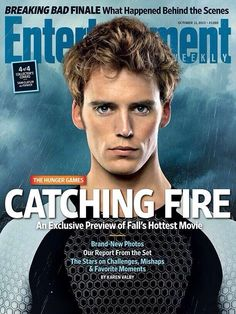 "First of all, he looks like a real life angel warrior on the cover of magazines. | 31 Reasons Sam Claflin Is The ""Hunger Games"" Tribute Of Your Dreams"