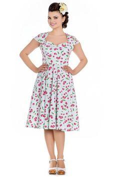 Hellbunny April Mint Cherry 50s Kleid