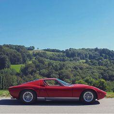 • Lady Miura. Lamborghini Miura P-400 S •  By @peregocars #miura #italy #red #torino #love #ferrari #mercedesbenz #lamborghini #bugatti #porsche #carporn #vintage #firstpost #first #elegance #lux #luxury #luxurycar #luxurylife #f4f #fashion #cars #londoncars #blacklist #newyork #autoporn #automotive #instacar #follow #carvintage