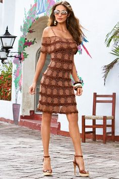 Fabulous Crochet a Little Black Crochet Dress Ideas. Georgeous Crochet a Little Black Crochet Dress Ideas. Black Crochet Dress, Crochet Skirts, Crochet Clothes, Knit Dress, Dress Skirt, Shirt Skirt, Ruffle Dress, Beau Crochet, Crochet Top