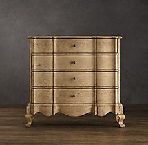 18th C. Danish Rococo 4-Drawer Dresser | Dressers | Restoration Hardware