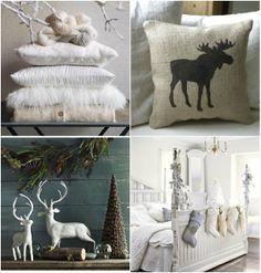 i love woodland/rustic scenes! Winter decor Inspiration
