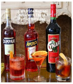 Here are three #Negroni variations we love, from the classic to the much less so.