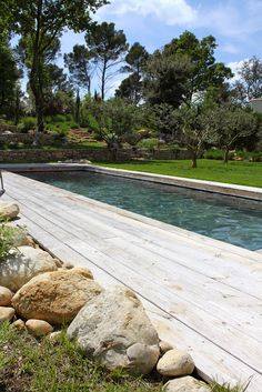 Backyard Pool Designs, Backyard Landscaping, Sloped Garden, My Pool, Earth Homes, Parisian Style, Water Garden, Close Image, Water Features