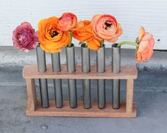 Easy Plant DIY: Test Tube Flower Vase from @Rachel Smith | 52 Weeks Project