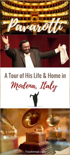 ITALY - Luciano Pavarotti was one of the world's greatest tenor opera singer of our time, and visiting his home is one of the many things to do in Modena, and gives a rare glimpse into the artist who reshaped opera and pop music as well. | Pavarotti, Italian opera, Italian tenor, Pavarotti home, Ferrari and Pavarotti tour, Bologna tours, Modena Italy, Italy travel
